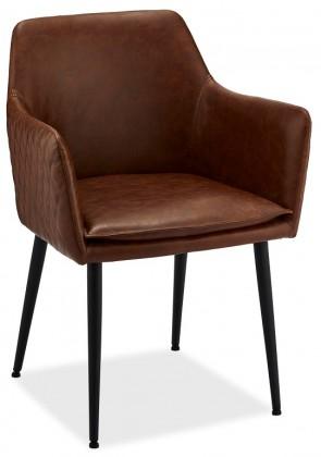 Jídelní židle Jídelní židle Monda hnědá, černá
