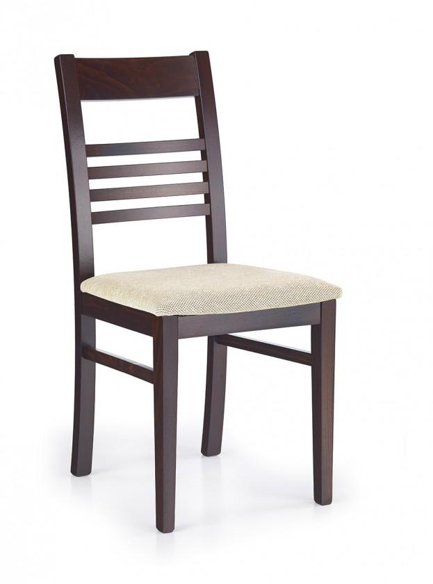 Jídelní židle Juliusz  (béžová torent beige, ořech tmavý)