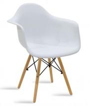 Jídelní židle Justy dub, bílá