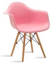 Jídelní židle Justy dub, růžová