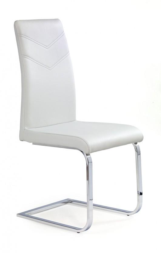Jídelní židle K106 (chromovaná ocel/eko kůže světle šedá)