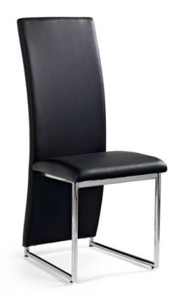 Jídelní židle K112  (eco kůže černá, chrom)