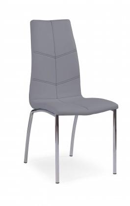 Jídelní židle K114 - Jídelní židle (šedá, stříbrná)