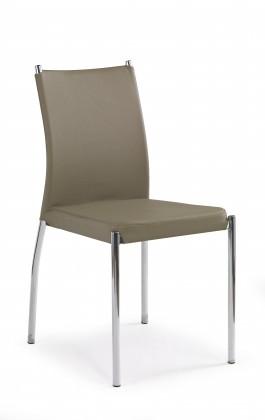 Jídelní židle K120 - Jídelní židle (tmavě béžová, stříbrná)