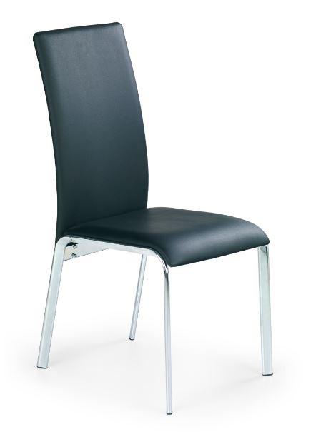 Jídelní židle K135  (eco kůže černá, chrom)