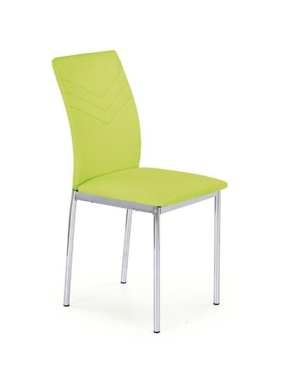 Jídelní židle K137  (eco kůže limetová, chrom)