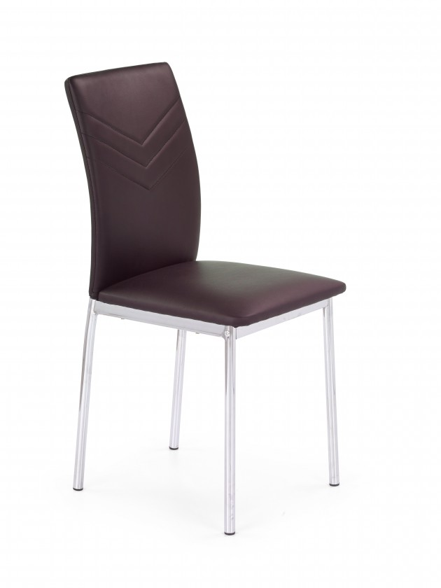 Jídelní židle K137 - Jídelní židle (hnědá, stříbrná)
