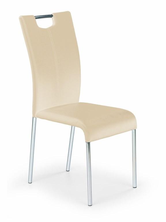 Jídelní židle K138 (tmavý krém)