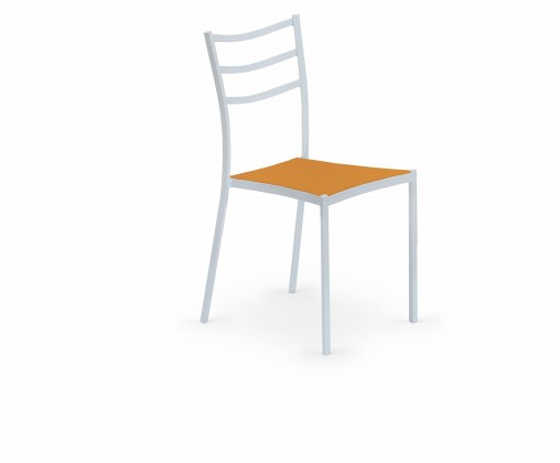 Jídelní židle K159  (oranžová, bílá)
