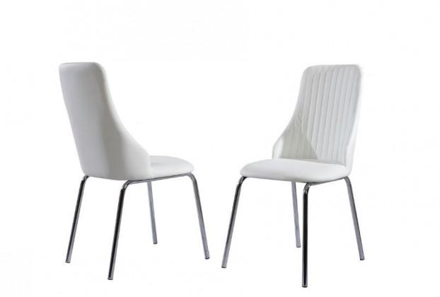 Jídelní židle K172  (eco kůže bílá, chrom)