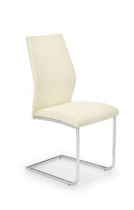 Jídelní židle K179  (eco kůže krémová, chrom)