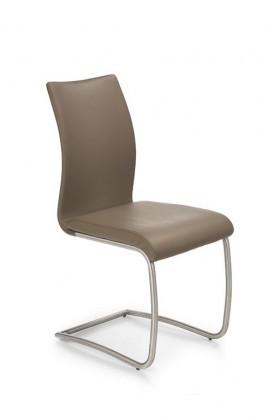 Jídelní židle K181 (nerez ocel/eko kůže béžová)