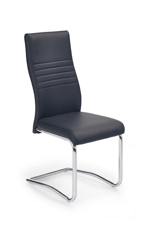 Jídelní židle K183 (chromovaná ocel/eko kůže černá)