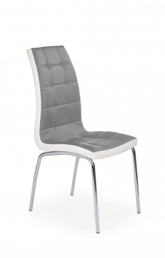Jídelní židle K186 - Jídelní židle (šedo-bílá, stříbrná)