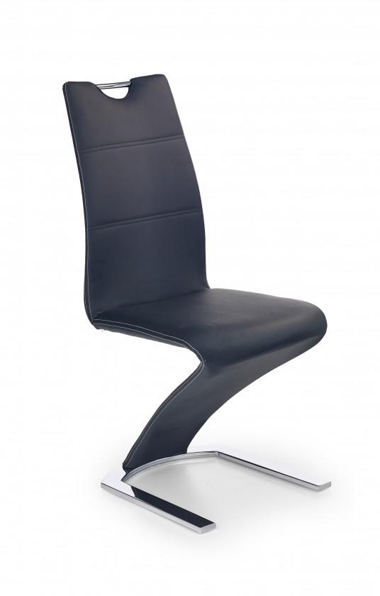 Jídelní židle K188 (eco kůže černá, chrom)