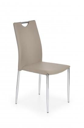 Jídelní židle K196 (eco kůže cappuccino, chrom)