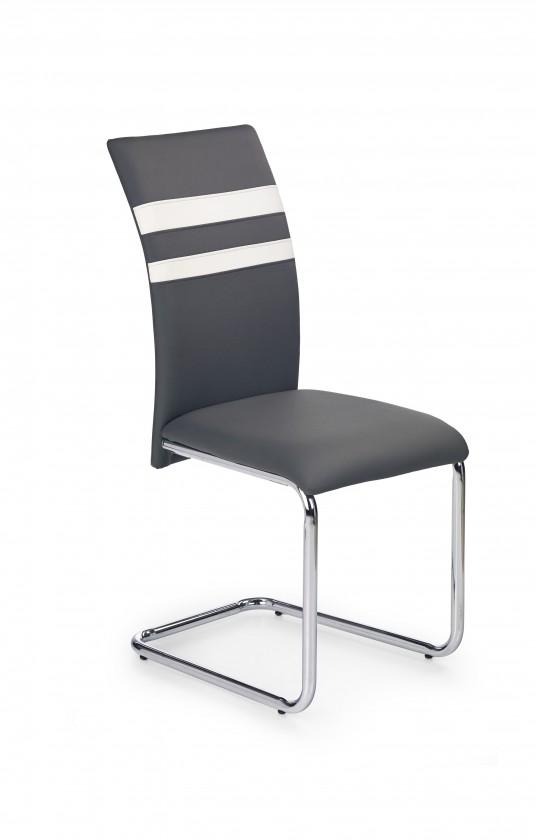 Jídelní židle K197 - jídelní židle (eco kůže šedá, chrom)