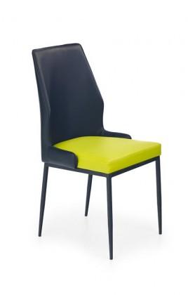 Jídelní židle K199 (eko kůže,litmetková,černá,ocel)