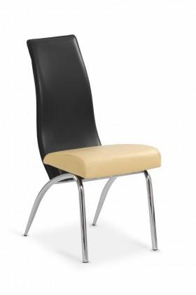 Jídelní židle K2 (béžová/černá)