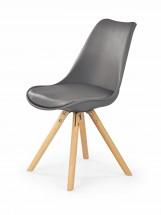 Jídelní židle K201 (šedá, buk) - PŘEBALENO
