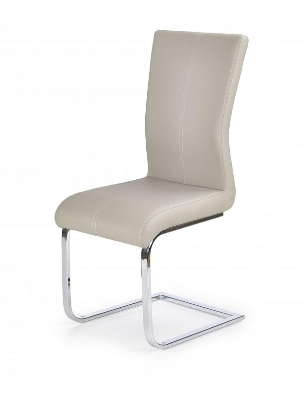 Jídelní židle K218 - Jídelní židle (cappuccino, stříbrná)