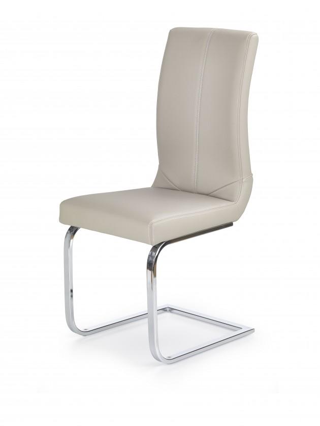 Jídelní židle K219 - Jídelní židle (cappuccino, stříbrná)