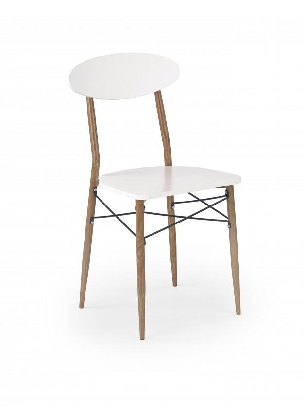 Jídelní židle K223 - Jídelní židle (bílá, dub medový)