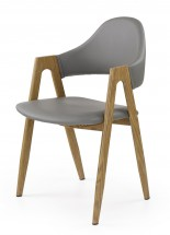 Jídelní židle K247, područky (ocel, eko kůže)