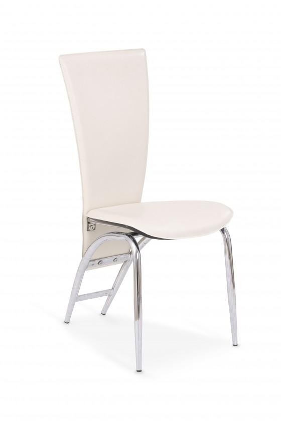 Jídelní židle K46 (eco kůže krémová, chrom)