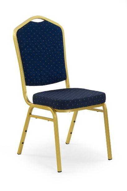 Jídelní židle K66  (zlatá, modrá)