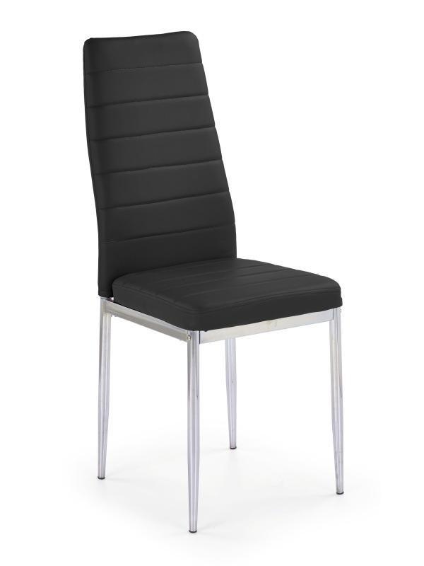 Jídelní židle K70C (černá, chrom)