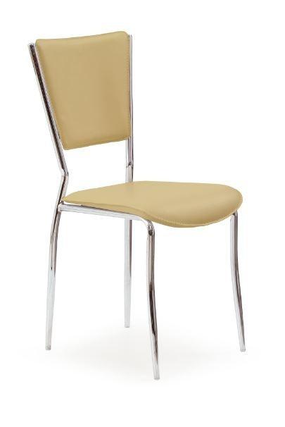 Jídelní židle K72C  (světle hnědá, chrom)