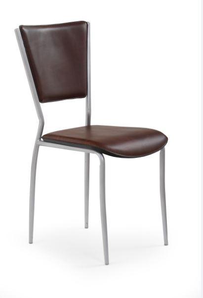 Jídelní židle K72C  (tmavě hnědá, chrom)