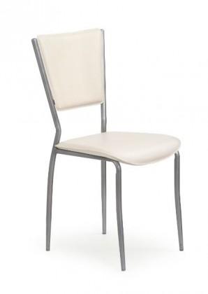 Jídelní židle K72M  (eco kůže krémová, šedá)
