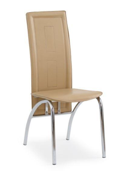 Jídelní židle K75  (světle hnědá, chrom)