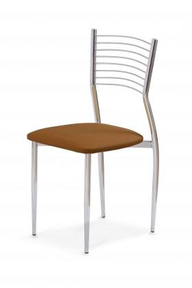 Jídelní židle K9  (chrom,hnědá)