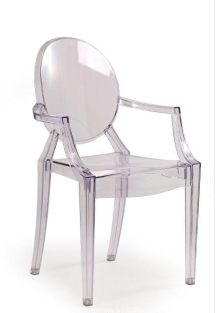 Jídelní židle K91 (polykarbonát, kouřová)