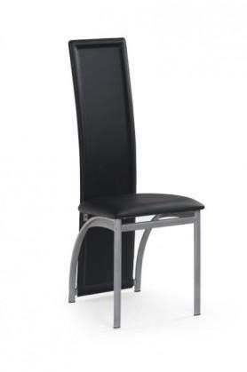 Jídelní židle K94  (eco kůže černá, šedá)