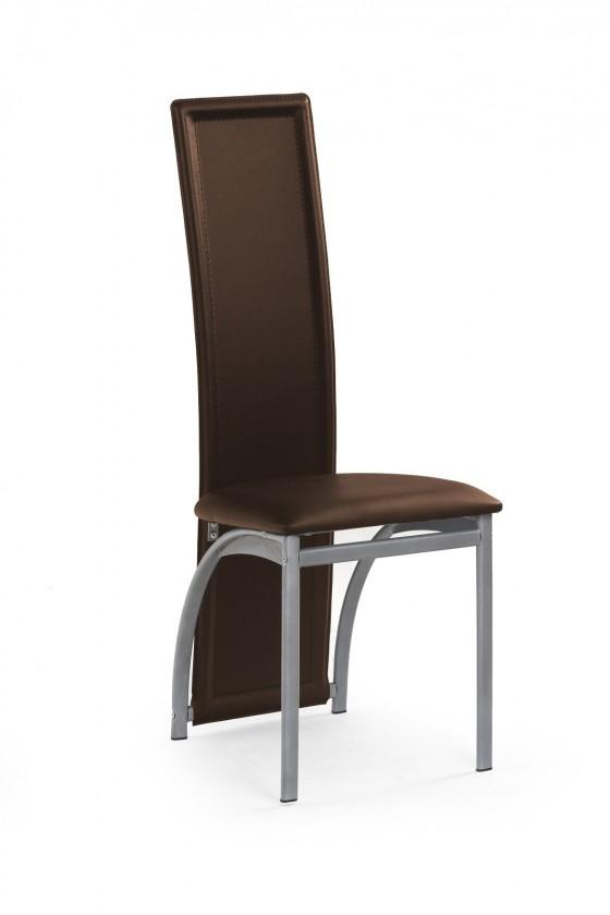 Jídelní židle K94  (eco kůže hnědá, šedá)