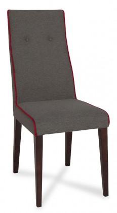 Jídelní židle Kanita - Jídelní židle (wenge/tm.šedá/linka karmínová)