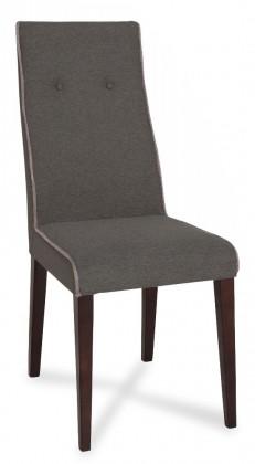 Jídelní židle Kanita - Jídelní židle (wenge/tm.šedá/linka sv.šedá)