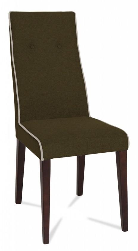 Jídelní židle Kanita (wenge/látka antara hnědá/linka krémová)