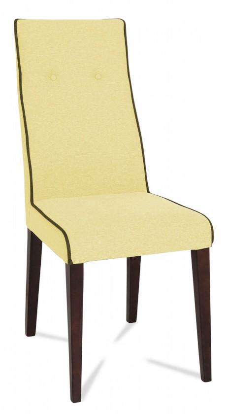Jídelní židle Kanita (wenge/látka antara světle béžová/linka hnědá)