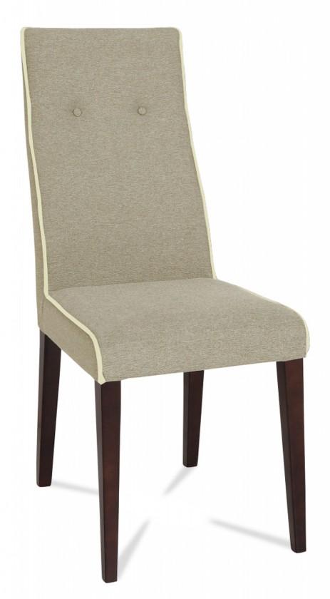 Jídelní židle Kanita (wenge/látka carabu šedá/linka světle béžová)