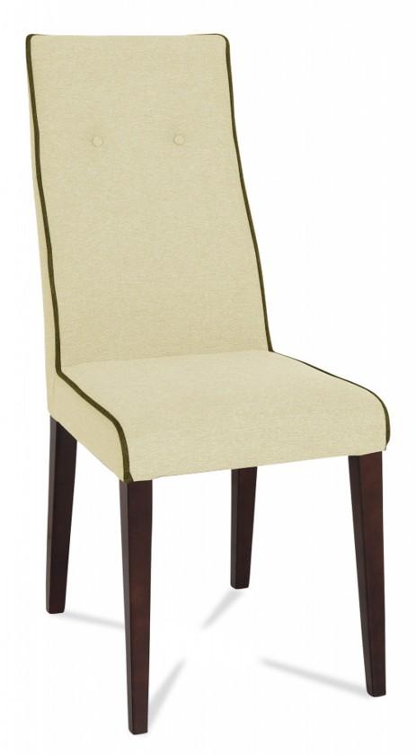Jídelní židle Kanita (wenge/látka carabu světle béžová/linka hnědá)
