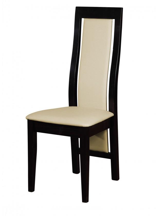 Jídelní židle Kanzas - jídelní židle (dřevo - wenge/potah - syntetická kůže)
