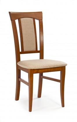Jídelní židle Konrad  (béžová casilda bez, třešeň antik)