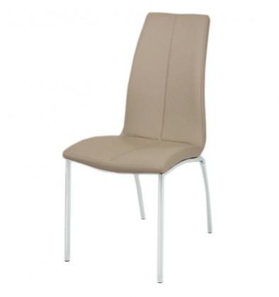 Jídelní židle Lane(chrom/koženka cappuccino)