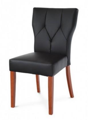 Jídelní židle Lisa(koženka černá/třešeň)