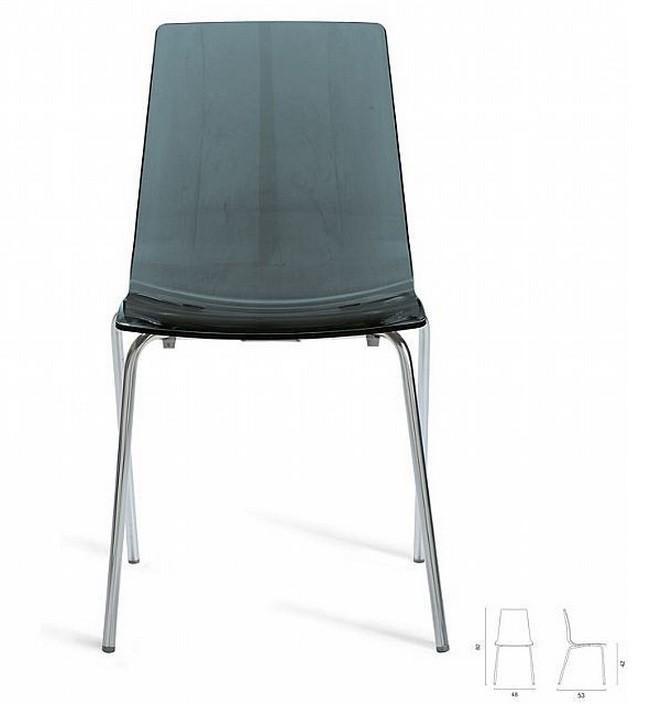 Jídelní židle Lollipop(antracite transparente)